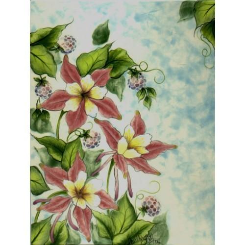 Columbine Flowers & Raspberry (Hardcopy)