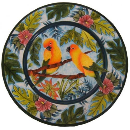 Tropical Paradise- Sun Conure Birds (Hardcopy)