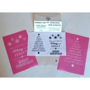 H100-Holiday Designer Silk Screen