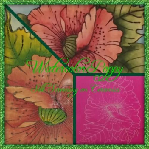 Watercolor Poppy (Silk Screening on Ceramics)