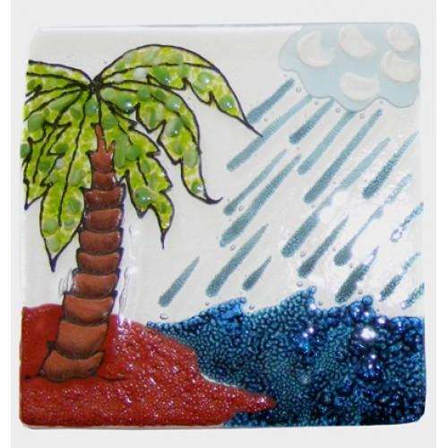 Sea Shore Glass Tile