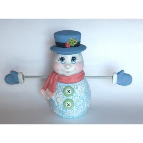 Snowman Candycane Holder