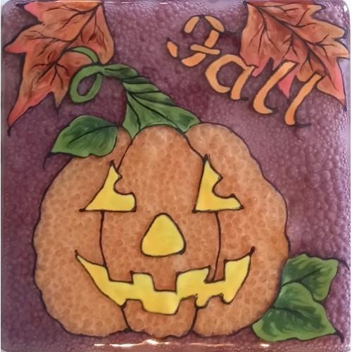 Fall Pumpkin Glass Panel