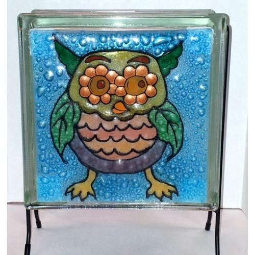 Owl Glass Panel