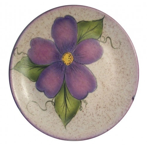 Majolica Purple Flower (Stencil & Brushwork)