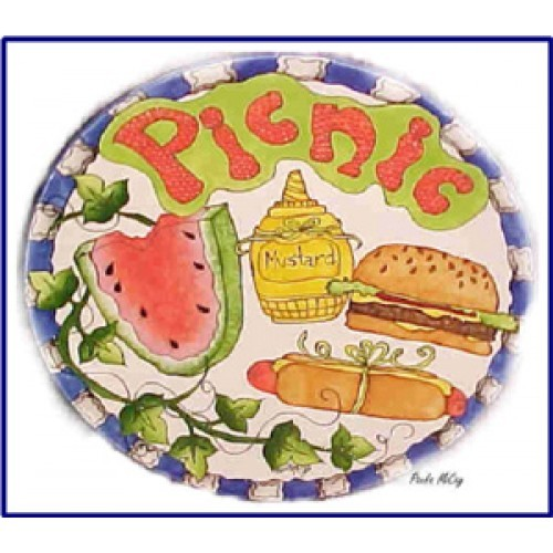 Picnic Plate (Piping) (Hardcopy)
