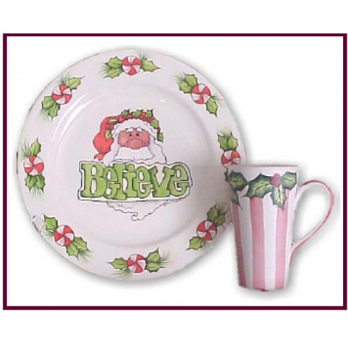 Believe Santa Plate (Piping)(Hardcopy)