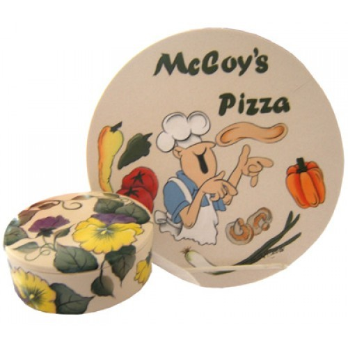 Stoneware Pizza Stone/Porcelain Box (Hardcopy