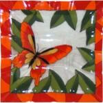 Red & Orange Butterfly - Glass Project (Hardcopy)