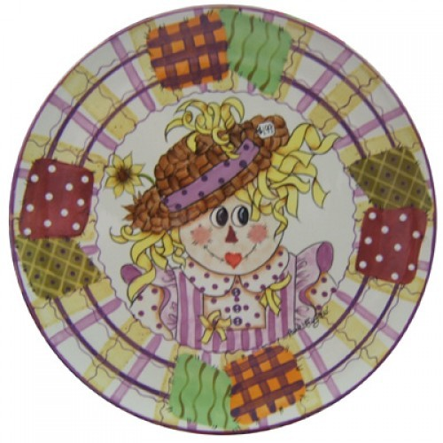 Minni Curl Scarecrow Platter (2006 Retreat Holiday)(Hardcopy)
