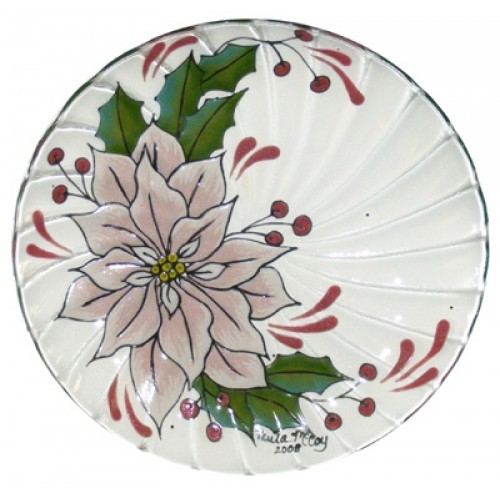 Poinsettia Glass Plate (2008 Retreat Holiday)(Hardcopy)