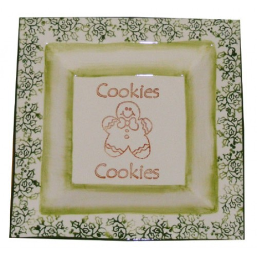 Christmas Cookie Plate Stamping (2009 Retreat Holiday)(Hardcopy)