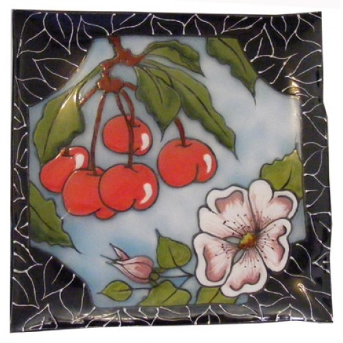 Cherry Delight Glass Dish (2010 Retreat)(Hardcopy)