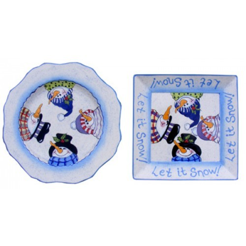 Let it Snowman Plate (2010 Retreat Holiday)(Hardcopy)