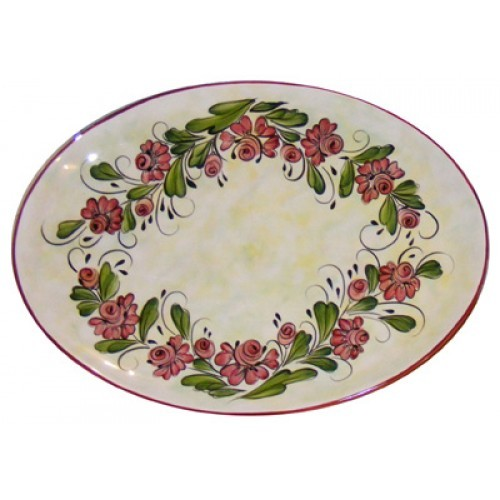 Oval Rose Platter