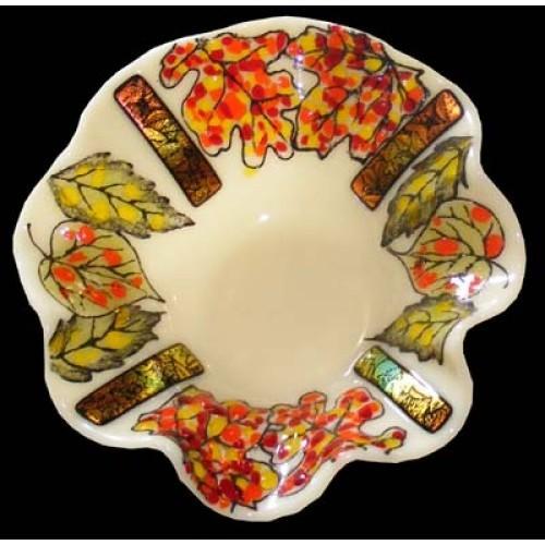 Fall Frit Leaf Dish (Glass)