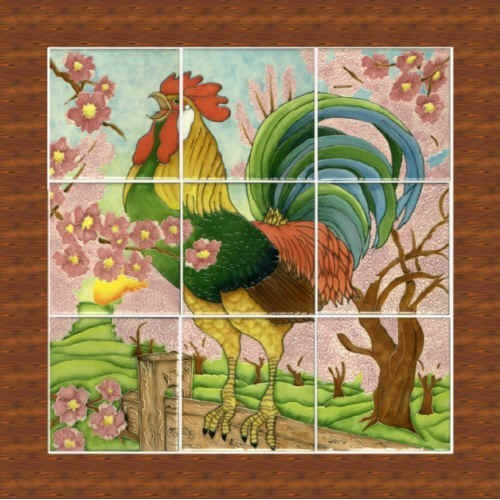Spring Morning Rooster On-Line Class-in-a-bag
