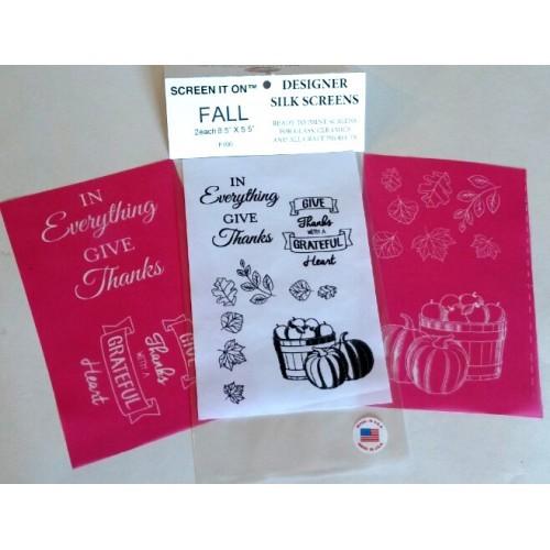 F100-Fall Designer Silk Screen