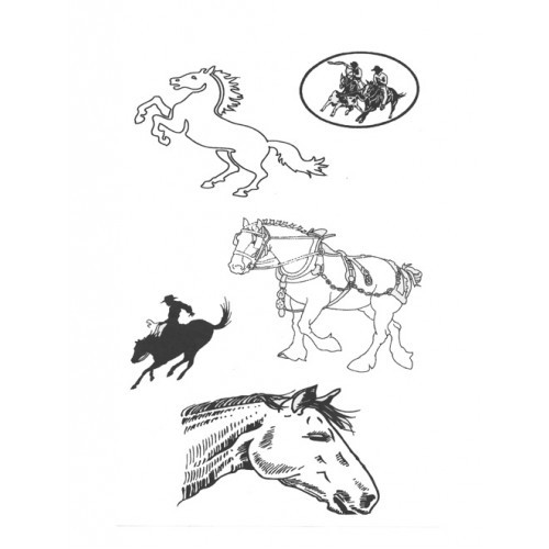 SSDHO-2 Horse Designer Silk Screen