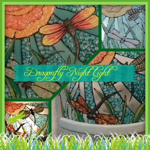 Dragonfly Glass Night Light