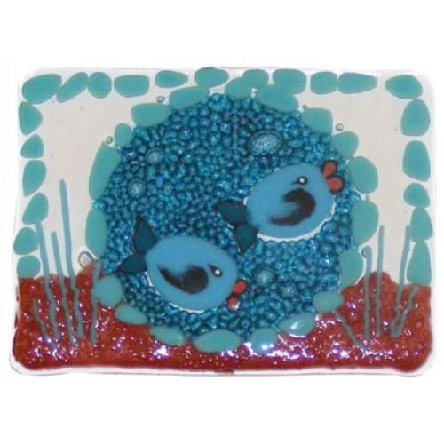 Glass Fish Soap Dish