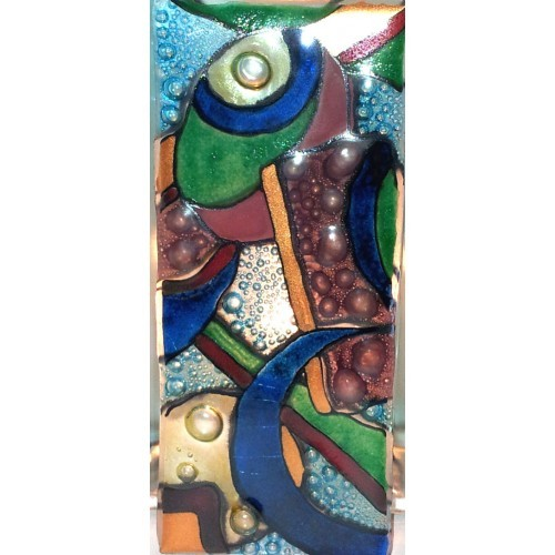Abstract Glass Panel